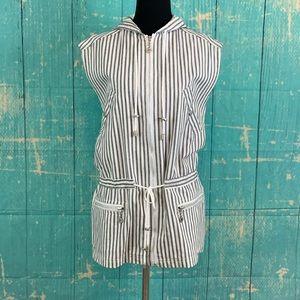 JONES NEW YORK SPORT Zip Hoodie Vest